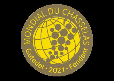 Concours Mondial du Chasselas – Médaille d'Or – Millésime 2020