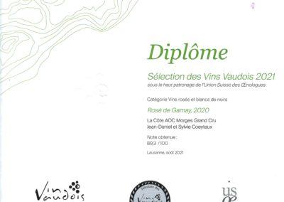 Sélection des Vins Vaudois - Rosé de Gamay - 2020
